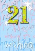 Congratulations 21st Birthday Card